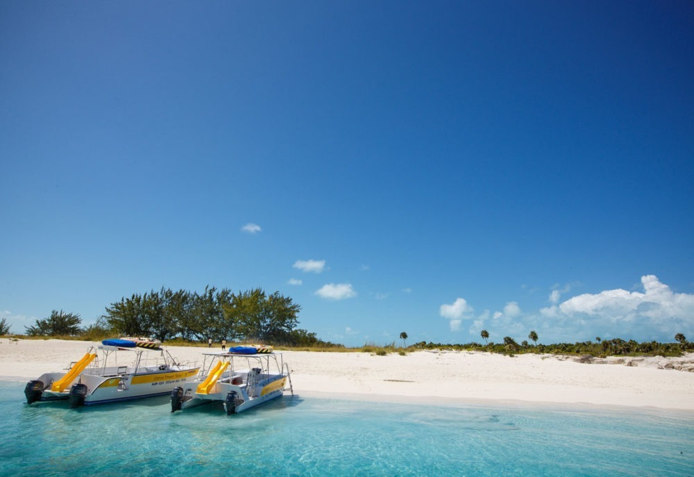 boats beached on turks and caicos