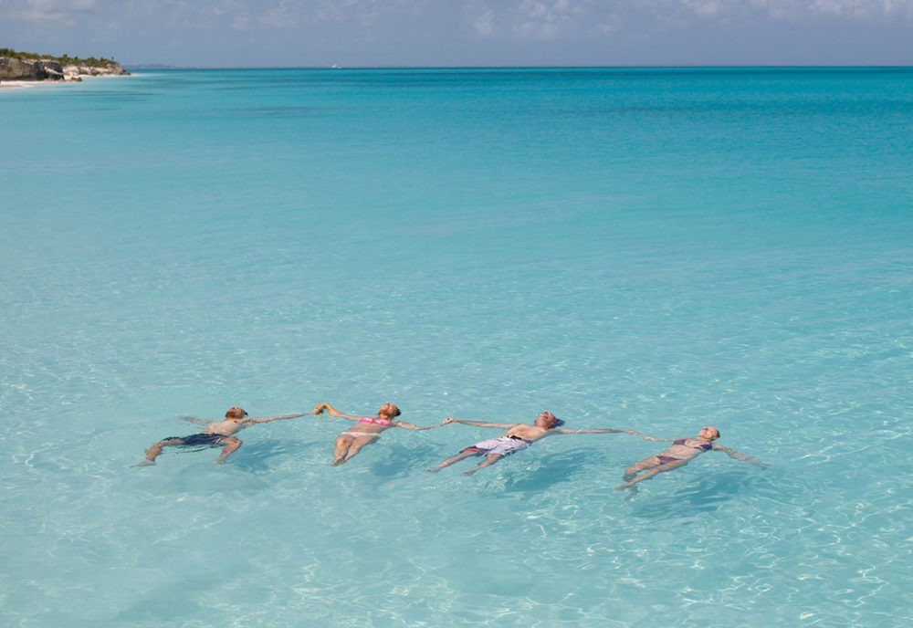 Turks and Caicos swimming adventure with friends